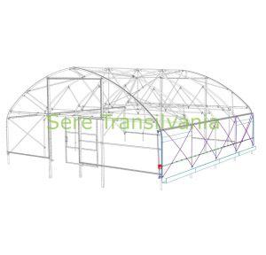 kit de motorizare deschidere laterala 230V cu automatizare pentru sere si solarii desen tehnic