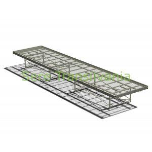 Masă de cultură mobilă cu grilaj 1,82x6,50m