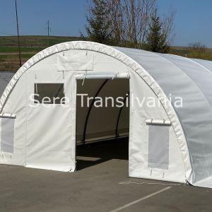 Cort/Spațiu de depozitare tip tunel 6x10m, acces de tip prelată roluibilă