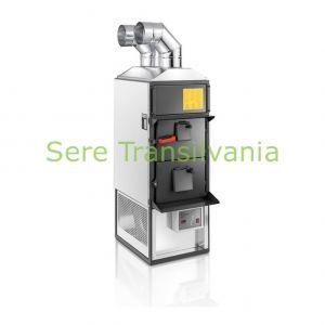 generator de aer cald pe combustibil solid cu 64KW fara ventilator exhaust pe fundal alb