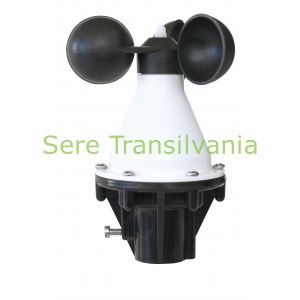 anemometru sau senzor de vant pe fundal alb
