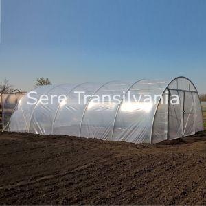 profil solar tunel 8x12,5m cu folie dubla inflata cu usa dublu batanta